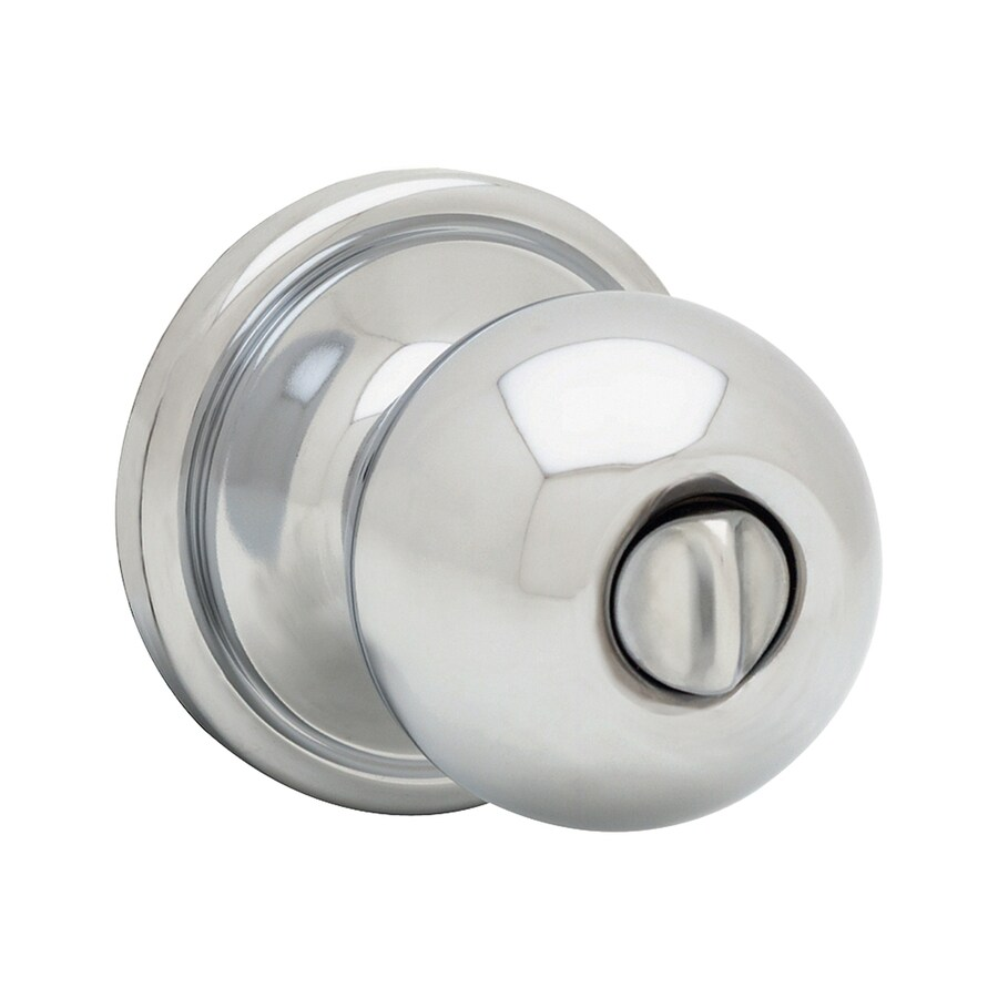 Kwikset Signature Circa Polished Chrome Round Turn-Lock Privacy Door Knob