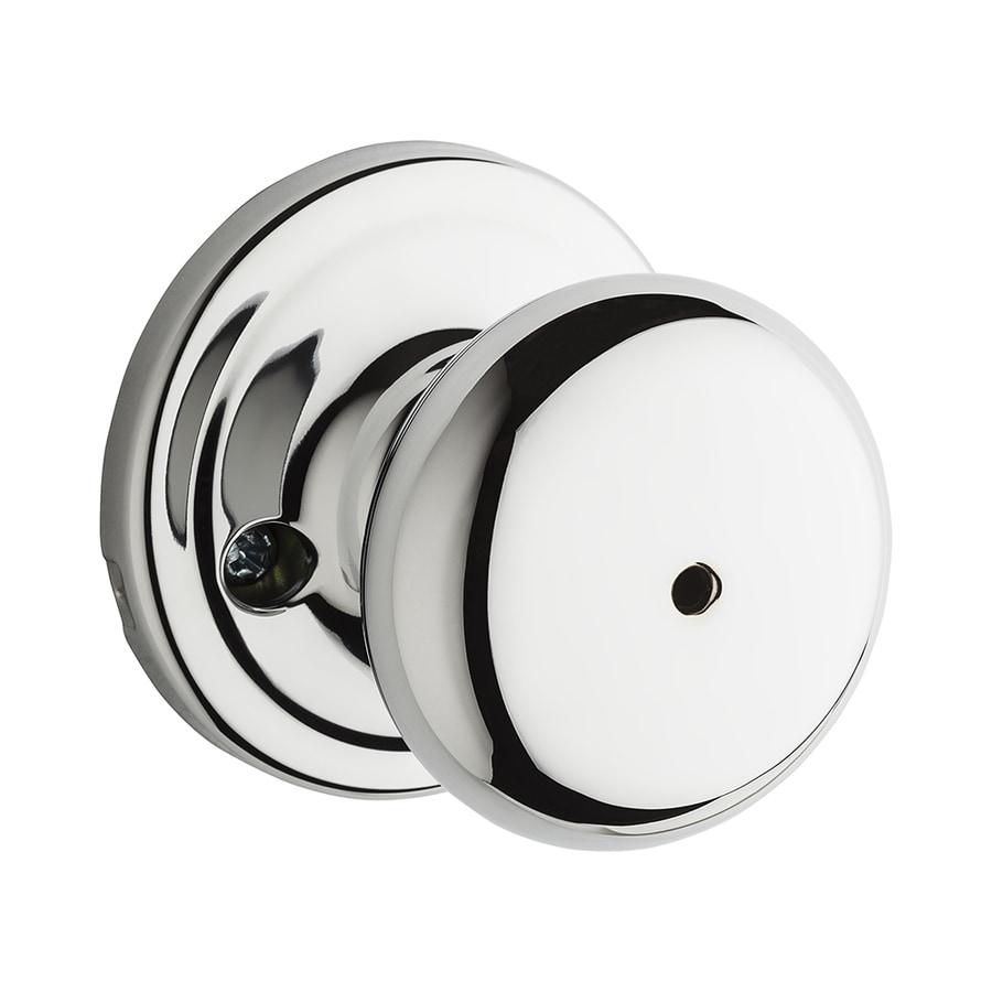 Kwikset Signature Hancock Polished Chrome Round Turn Lock Privacy Door Knob