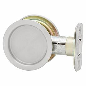 Kwikset 2.125 In Satin Chrome Pocket Door Pull