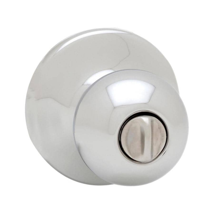 Kwikset Polo Polished Chrome Round Turn-Lock Privacy Door Knob
