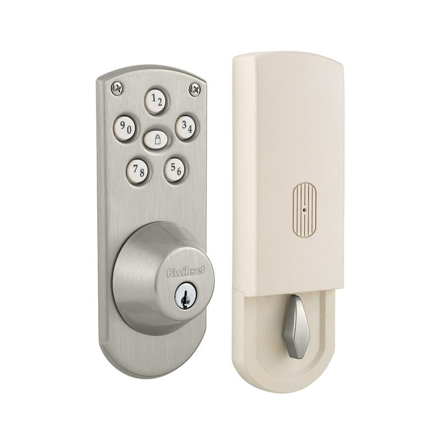 kwikset powerbolt satin nickel motorized electronic entry door deadbolt with keypad