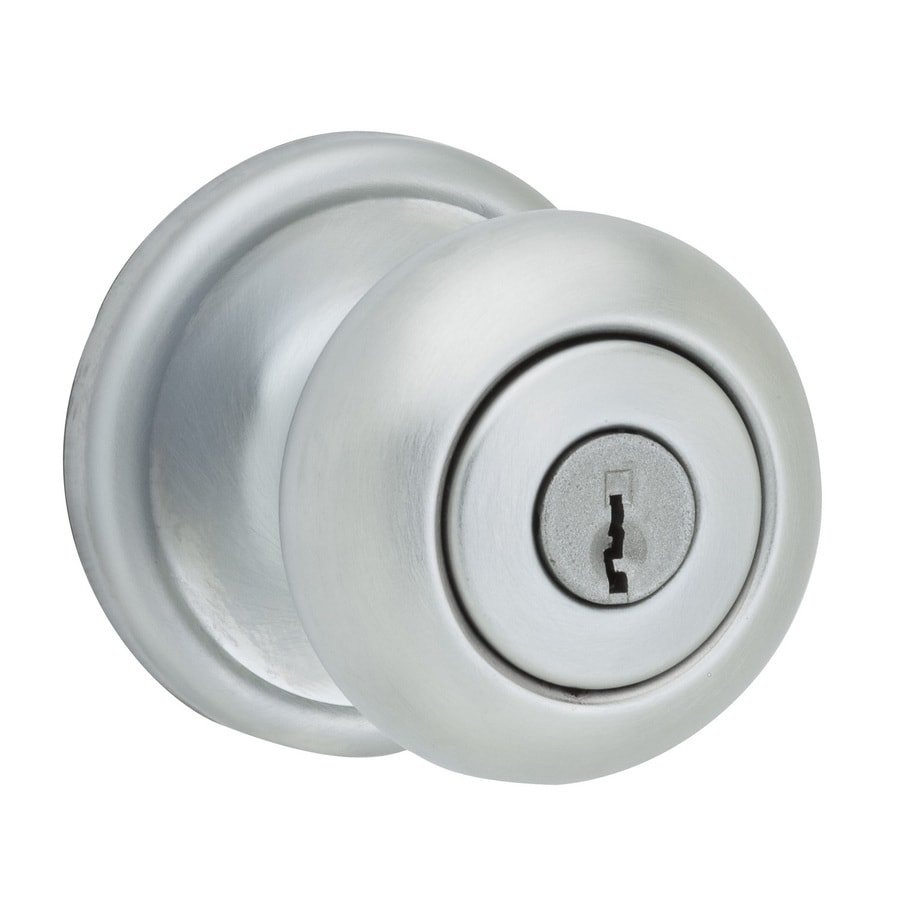 Kwikset Signature Hancock Satin Chrome Round Keyed Entry Door Knob
