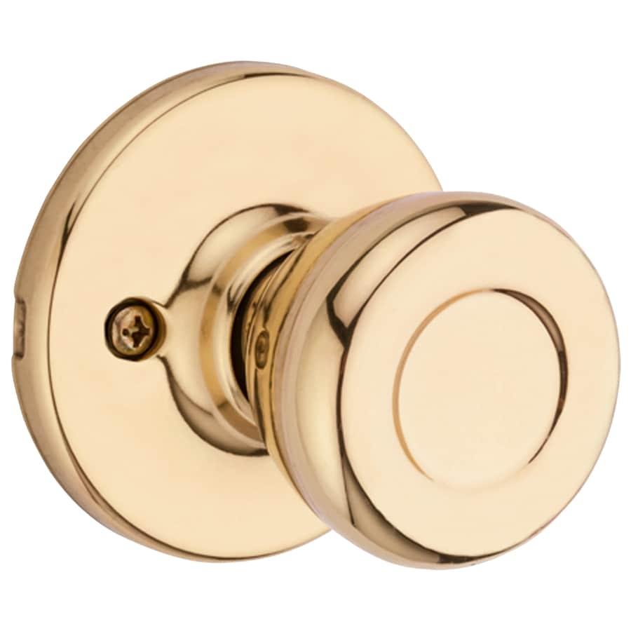 Kwikset Tylo Polished Brass Dummy Door Knob