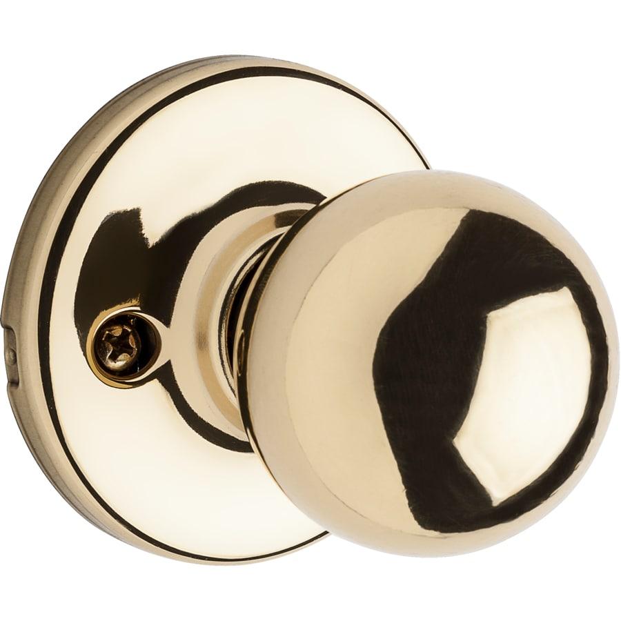 Kwikset Polo Polished Brass Dummy Door Knob
