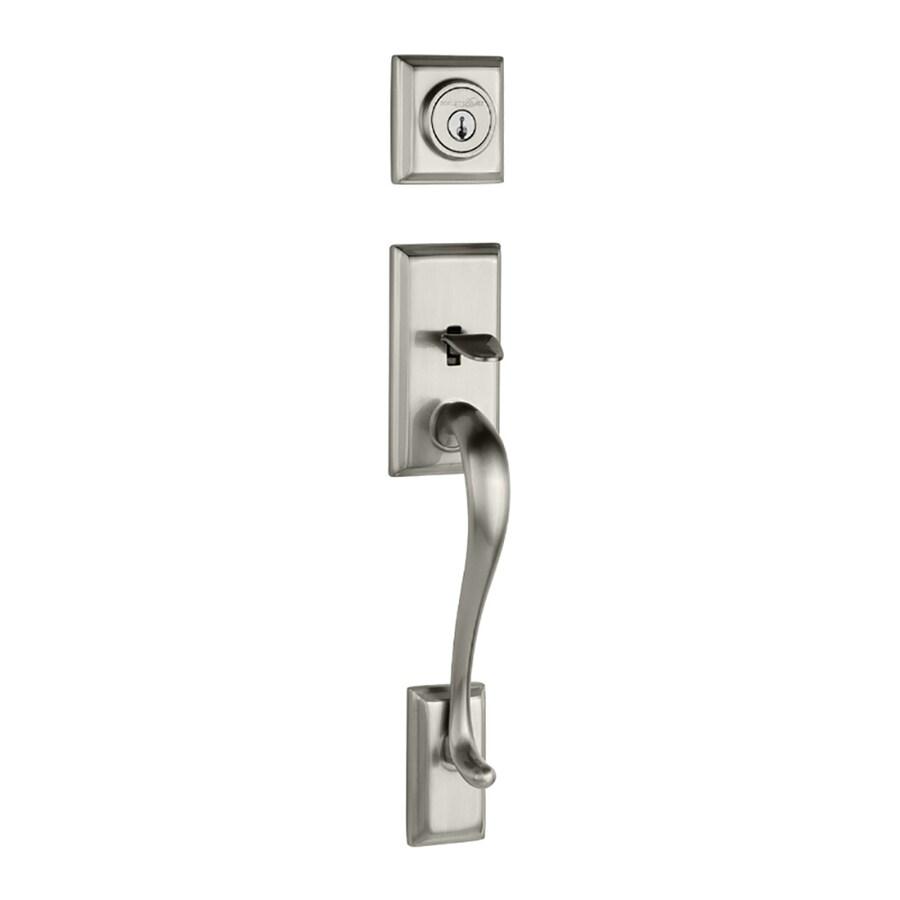 Kwikset Hawthorne Adjustable Satin Nickel Entry Door Exterior Handle