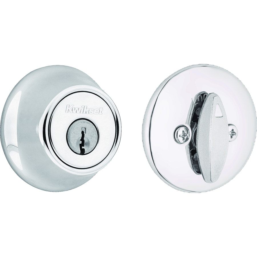 Kwikset 660 Polished Chrome Single-Cylinder Deadbolt