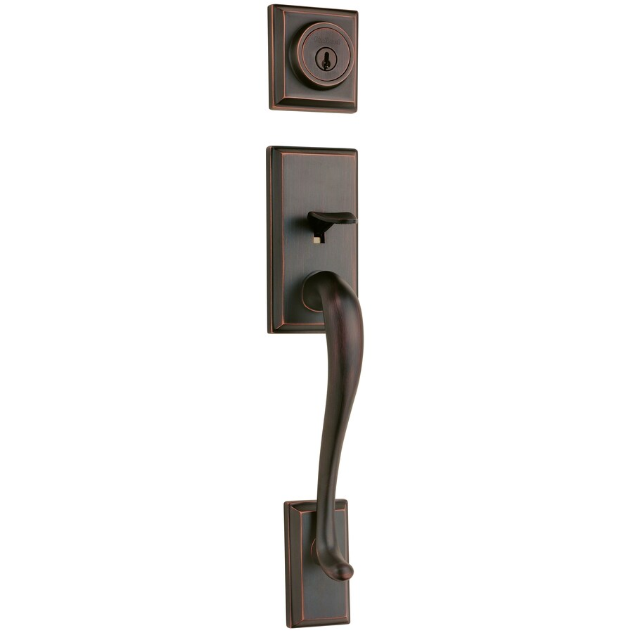 Kwikset Hawthorne Adjustable Venetian Bronze Entry Door Exterior Handle