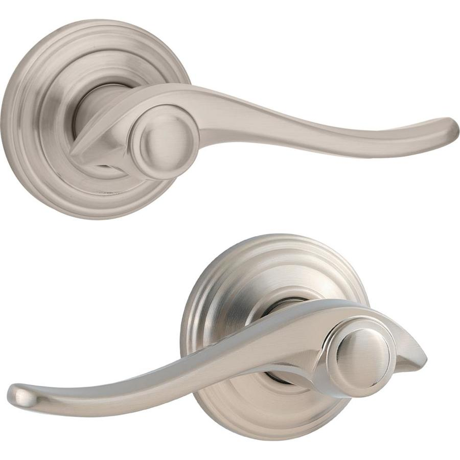 Kwikset Avalon Satin Nickel Universal Passage Door Lever