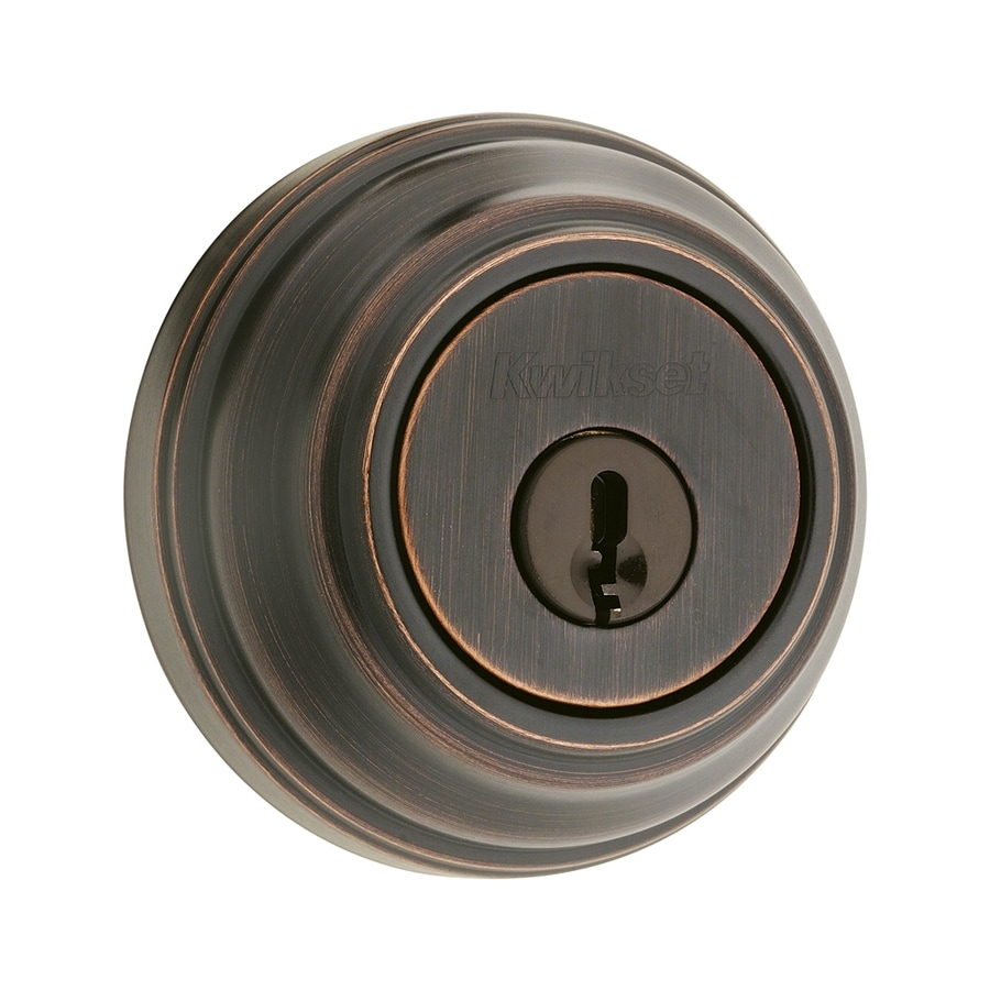 Kwikset Signature 980 Venetian Bronze Single-Cylinder Deadbolt