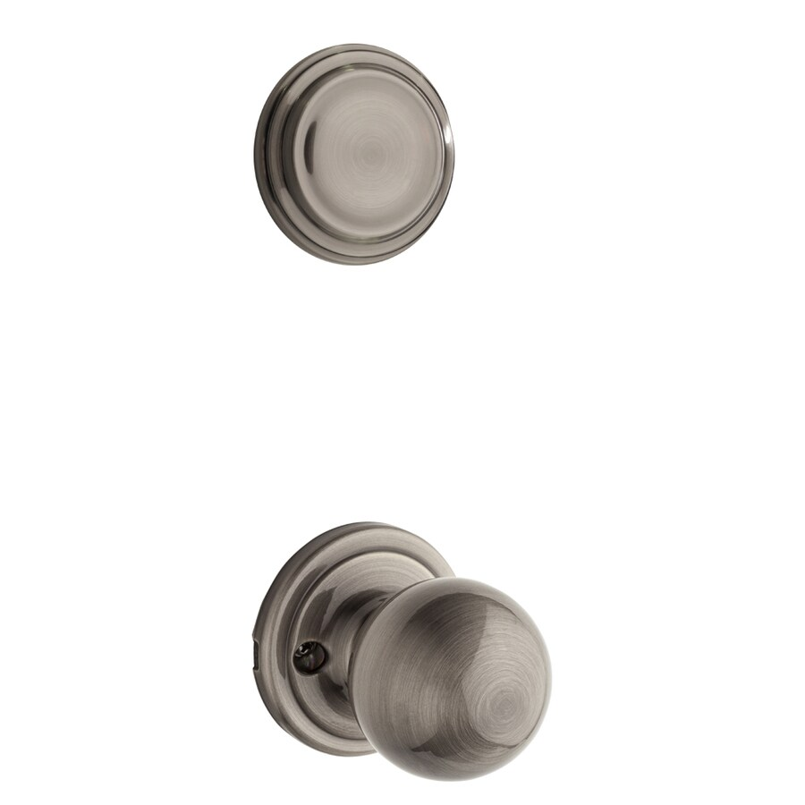 Kwikset Circa 1-3/4-in Antique Nickel Non-Keyed Knob Entry Door Interior Handle