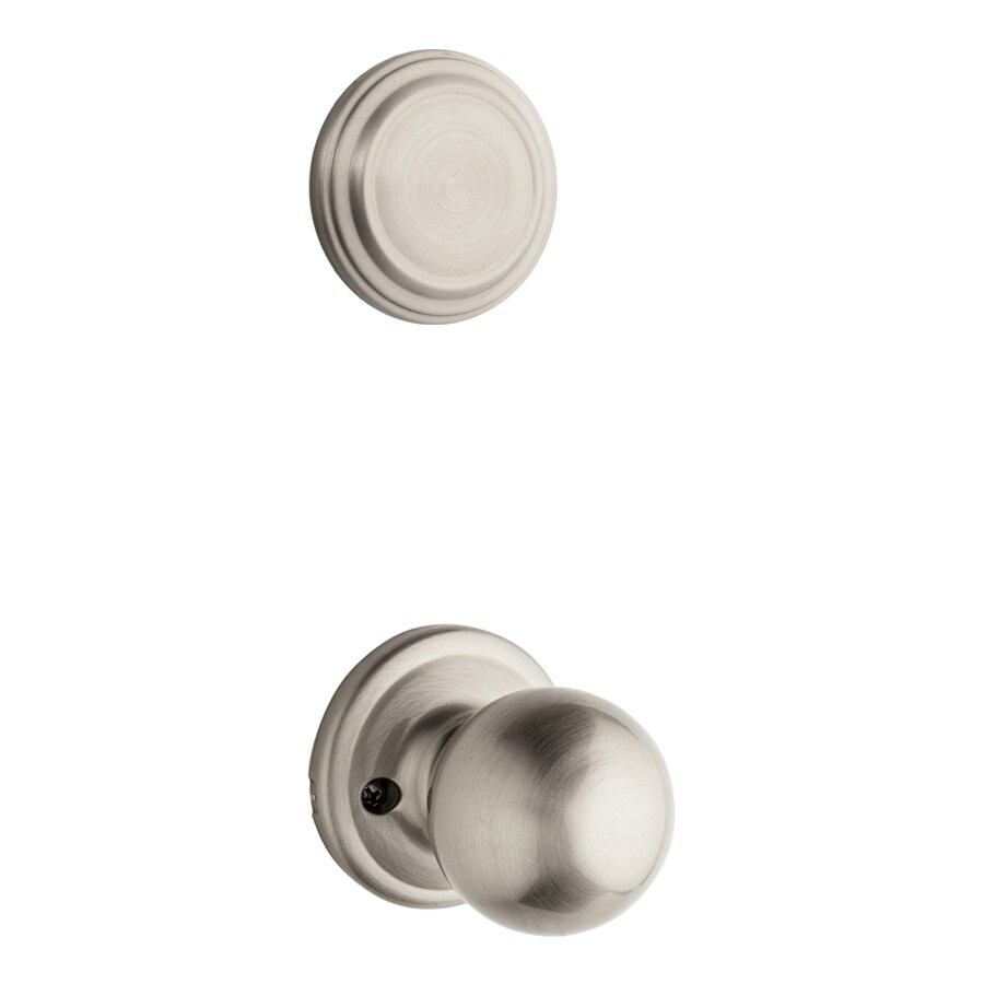 Kwikset Circa 1-3/4-in Satin Nickel Non-Keyed Knob Entry Door Interior Handle