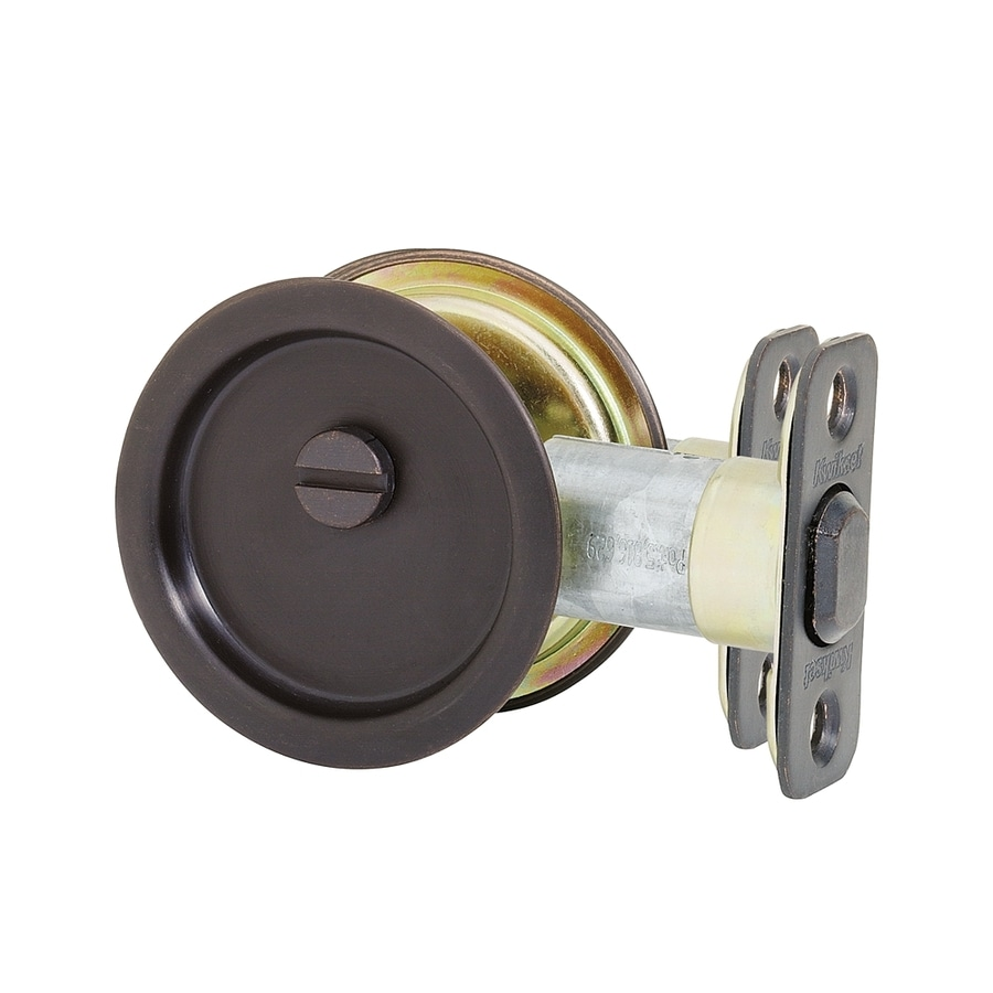Kwikset 2.125-in Venetian Bronze Pocket Door Pull