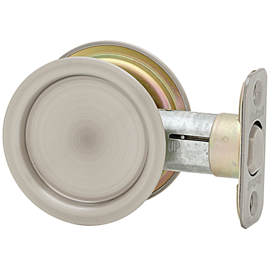 Kwikset 2-1/8-in Nickel Passage Pocket Door Pull