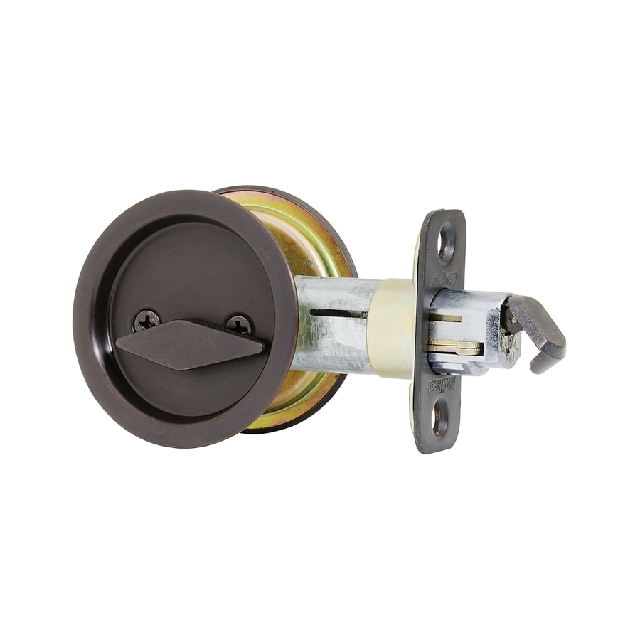 Delightful Kwikset 2.125 In Venetian Bronze Pocket Door Pull