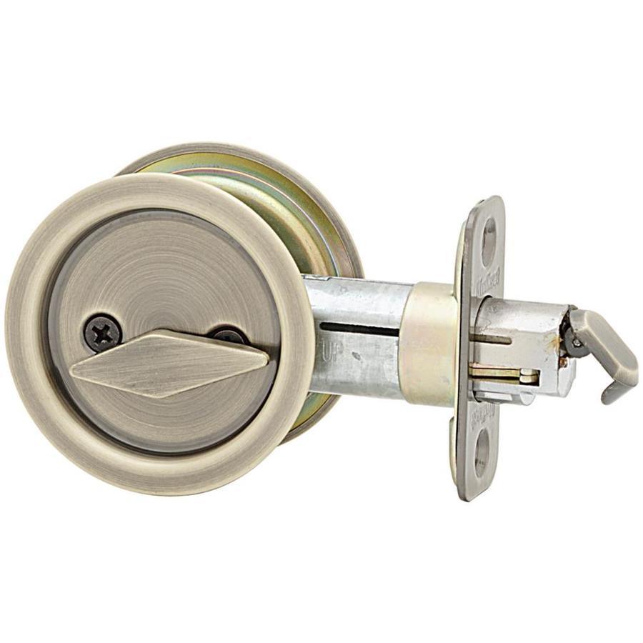 Kwikset 2-1/8-in Nickel Privacy Pocket Door Pull