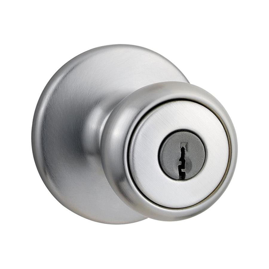 Shop Kwikset Tylo Satin Chrome Tulip Keyed Entry Door Knob At