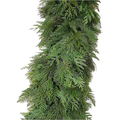 Lowes Christmas Garland.20 Ft Fresh Cedar Christmas Garland At Lowes Com