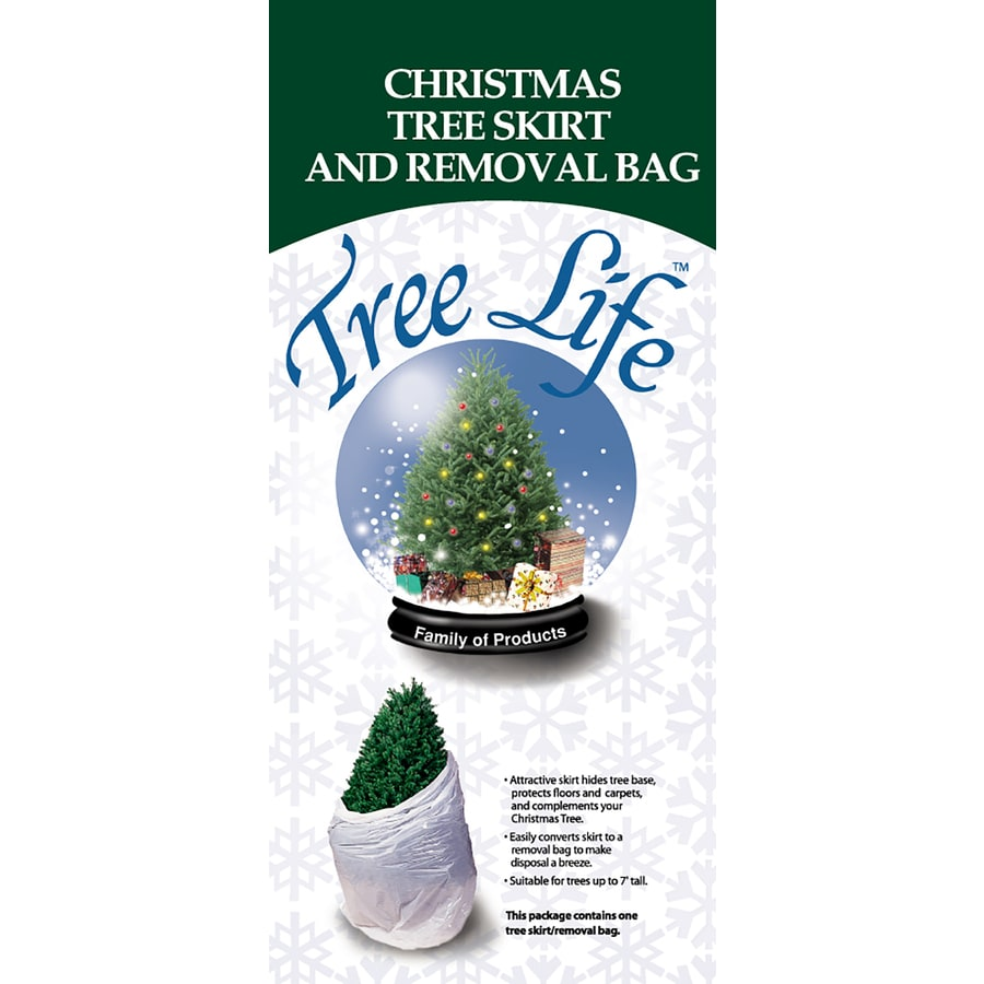 Shop 46-in White Nylon Traditional Christmas Tree Skirt at Lowes.com