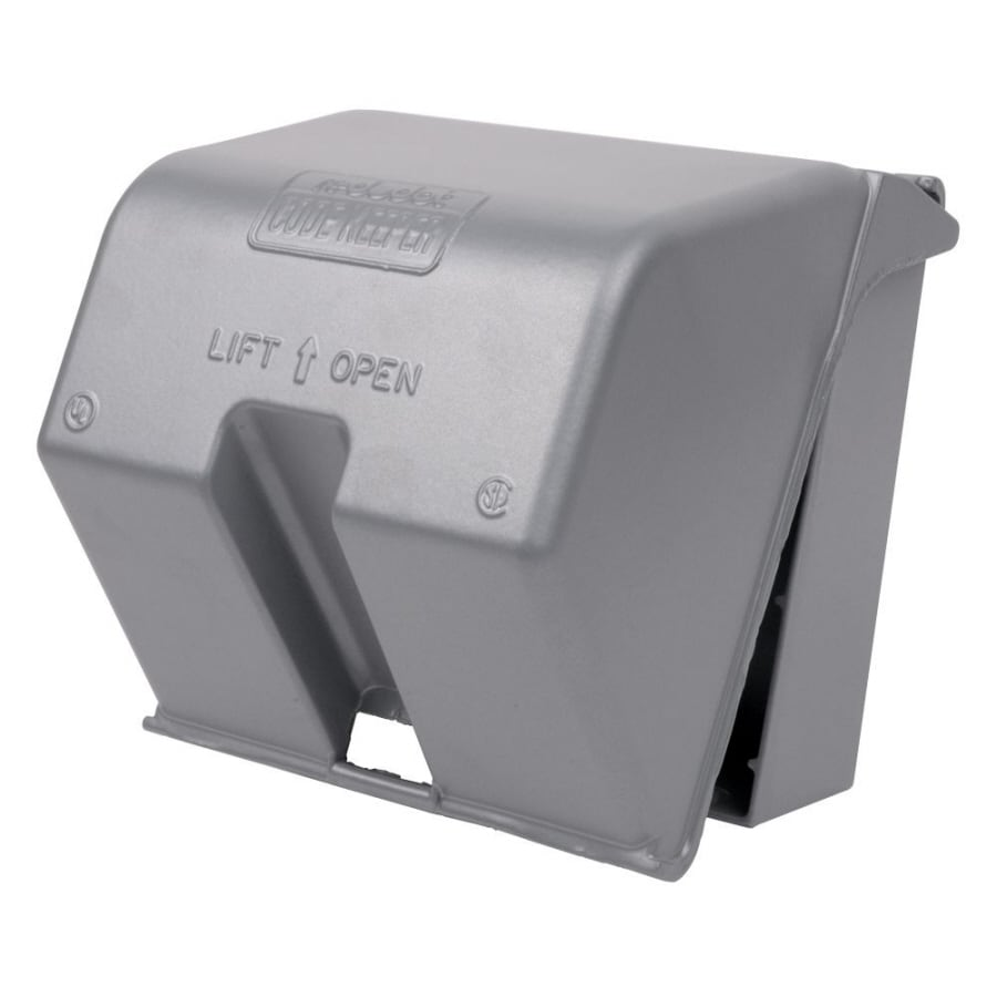 Shop REDDOT 2 Gang Square Metal Weatherproof Electrical Box Cover At