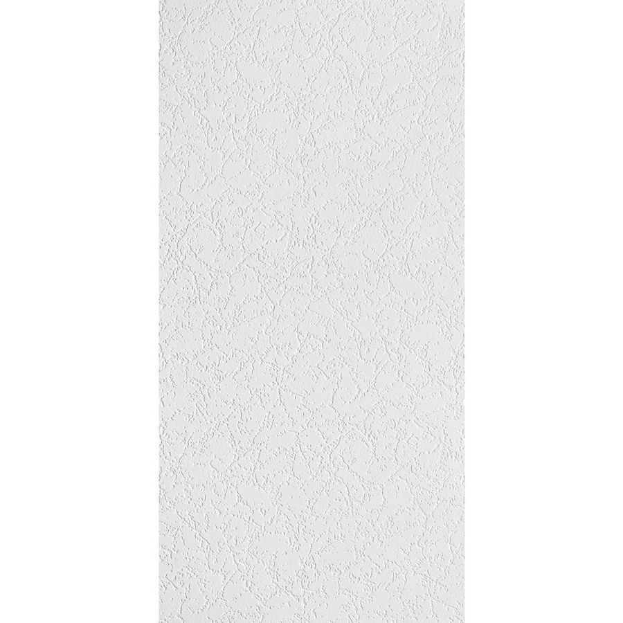 Armstrong Ceilings (Common: 48-in x 24-in; Actual: 47.719-in x 23.719-in) Grenoble Homestyle 8-Pack White Textured 15/16-in Drop Acoustic Panel Ceiling Tiles
