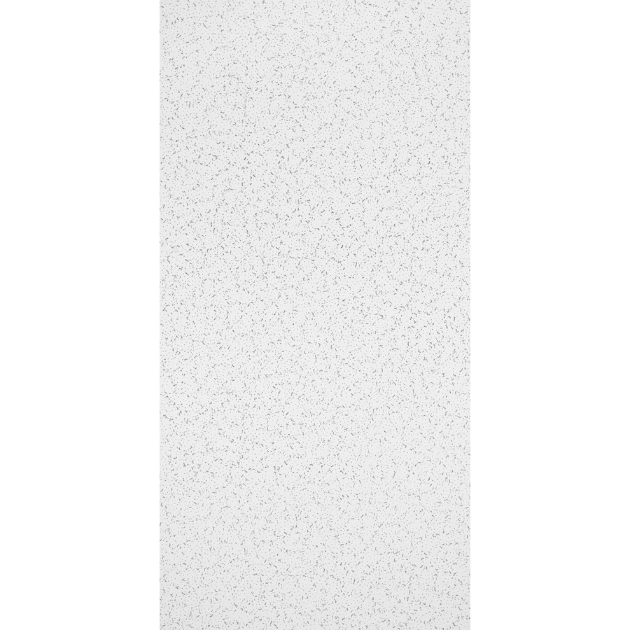Armstrong Ceilings (Common: 48-in x 24-in; Actual: 47.719-in x 23.719-in) Random Textured Contractor 10-Pack White Fissured 15/16-in Drop Acoustic Panel Ceiling Tiles