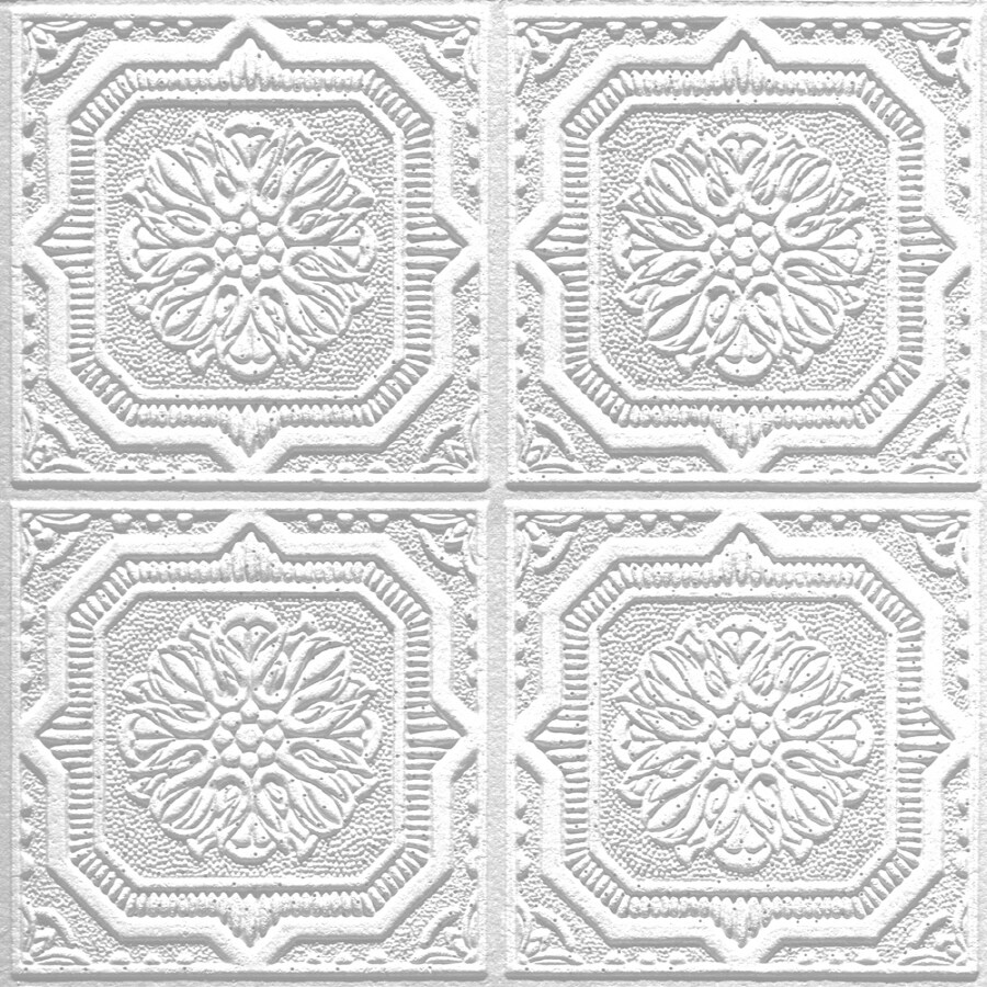 Shop armstrong 40 pack tin look wellington homestyle ceiling tile armstrong 40 pack tin look wellington homestyle ceiling tile panels common 12 dailygadgetfo Image collections