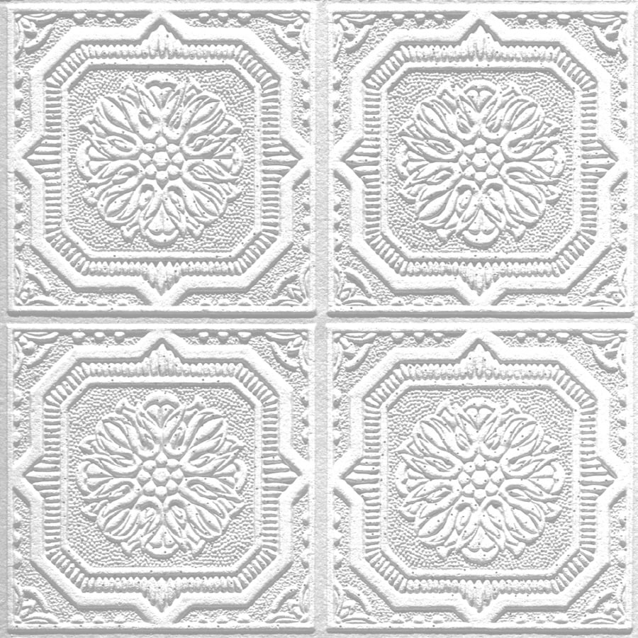 Shop armstrong 40 pack tin look wellington homestyle ceiling tile armstrong 40 pack tin look wellington homestyle ceiling tile panels common 12 dailygadgetfo Images