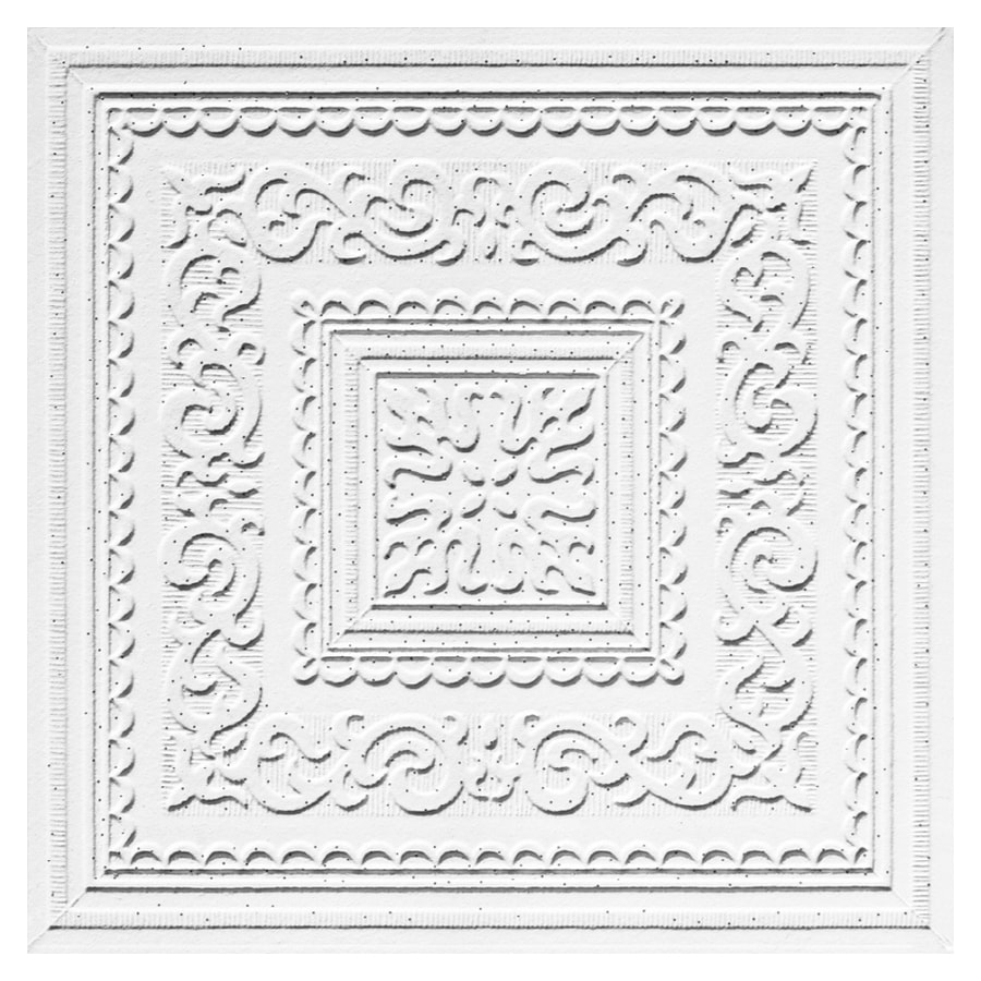 Shop armstrong 12 x 12 tin look kensington ceiling tile 40 at armstrong 12 x 12 tin look kensington ceiling tile dailygadgetfo Images