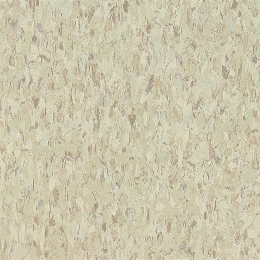 Armstrong Flooring Imperial Texture 45-Piece 12-in x 12-in Sandrift White Glue (Adhesive) Speckle Commercial VCT Tile