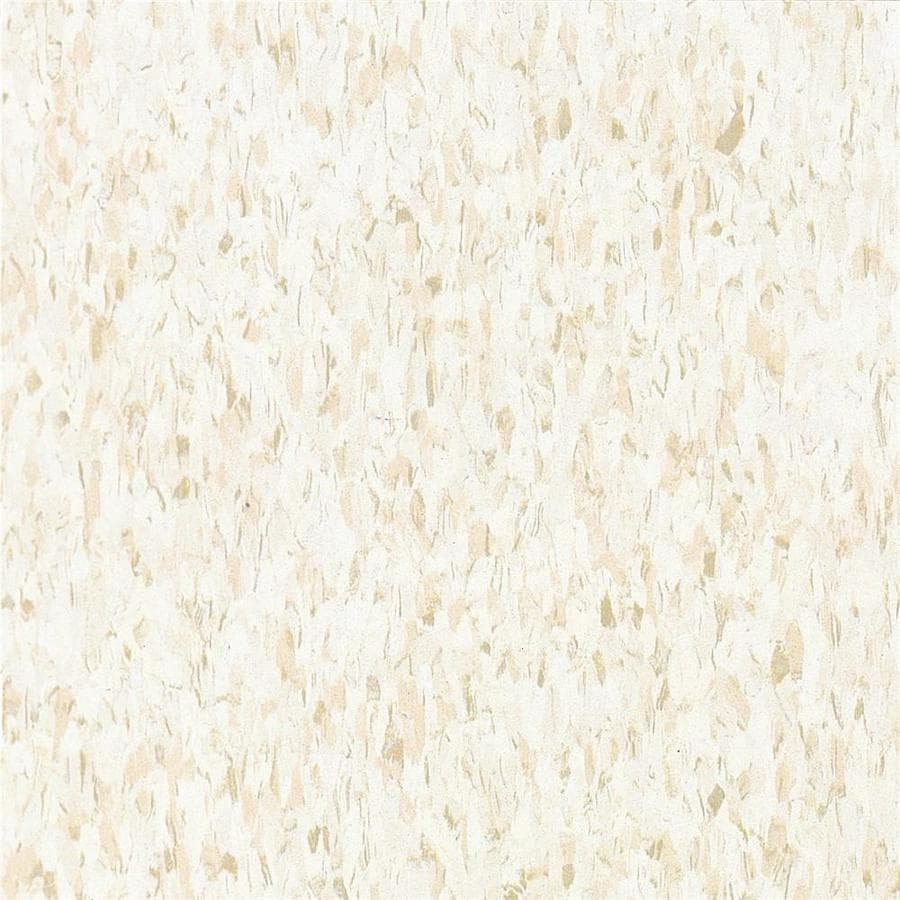 Armstrong Flooring Imperial Texture 45-Piece 12-in x 12-in Fortress White Glue (Adhesive) Speckle Commercial VCT Tile