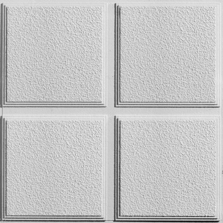 Armstrong 12-Pack Cascade Homestyle Ceiling Tile Panel (Common: 24-in x 24-in; Actual 23.719-in x 23.719-in)