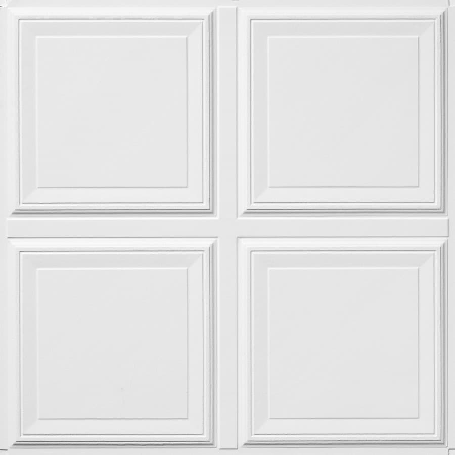 Armstrong Raised Panel Homestyle 6-Pack White Patterned 15/16-in Drop Acoustic Panel Ceiling Tiles (Common: 24-in x 24-in; Actual: 23.735-in x 23.735-in)