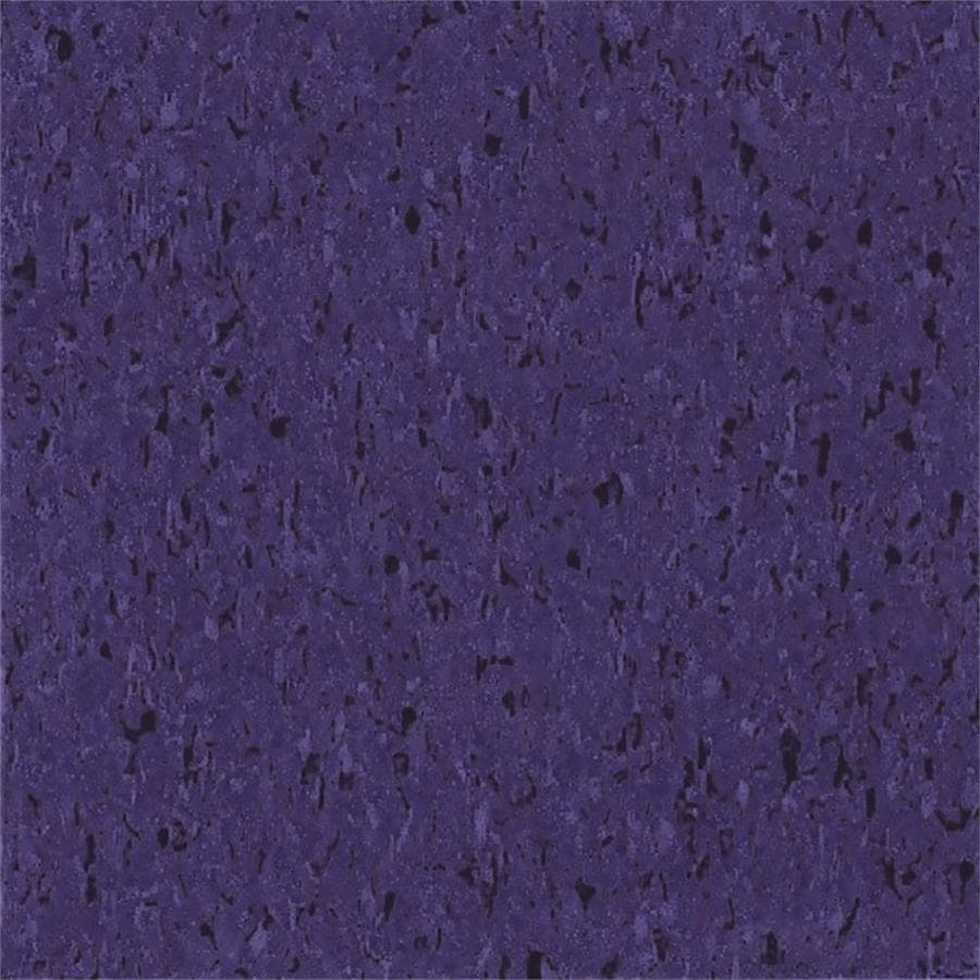 Armstrong Flooring Imperial Texture 45-Piece 12-in x 12-in Tyrian Purple Glue (Adhesive) Chip Commercial VCT Tile