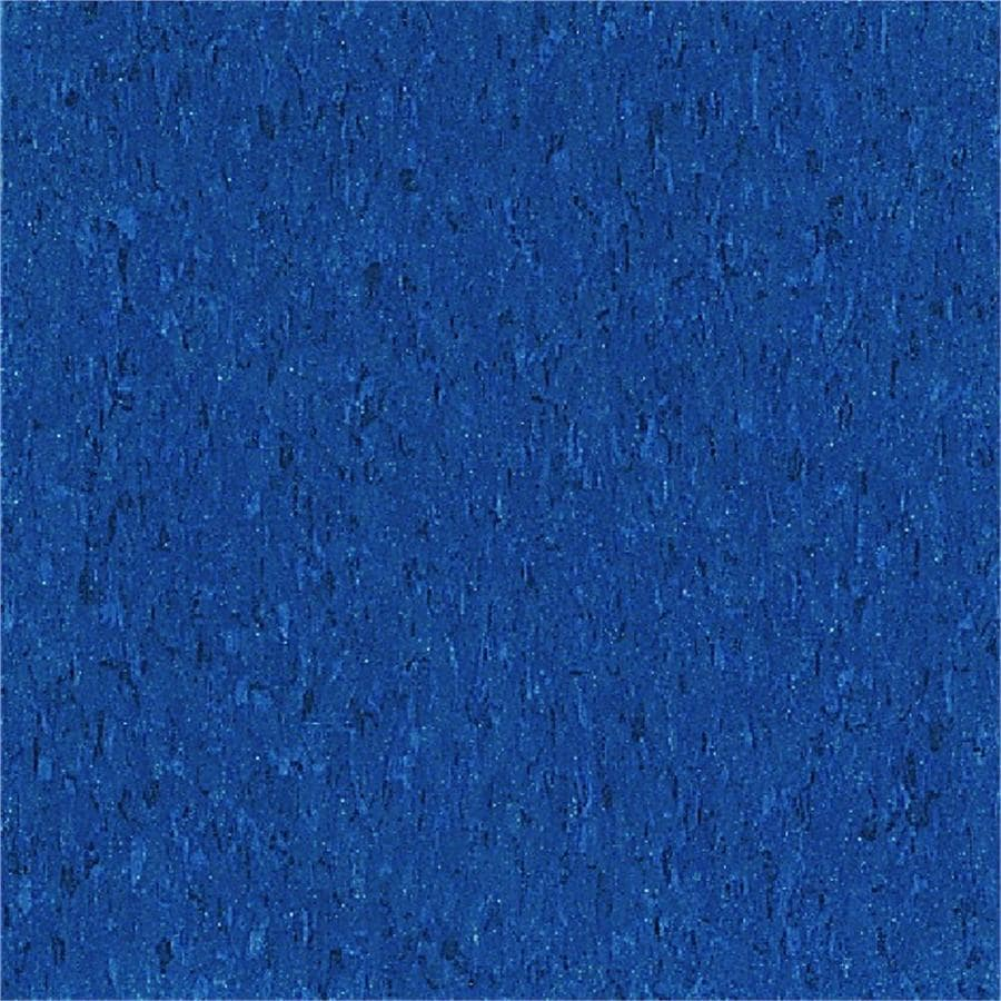 Armstrong Flooring Imperial Texture 45-Piece 12-in x 12-in Gentian Blue Glue-Down Chip Commercial VCT Tile