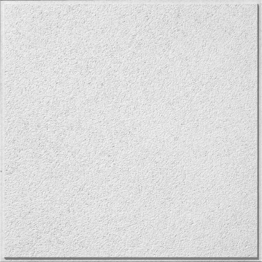 Armstrong (Common: 24-in x 24-in; Actual: 23.719-in x 23.719-in) Classic Fine Textured Contractor 12-Pack White Textured 15/16-in Drop Acoustic Panel Ceiling Tiles