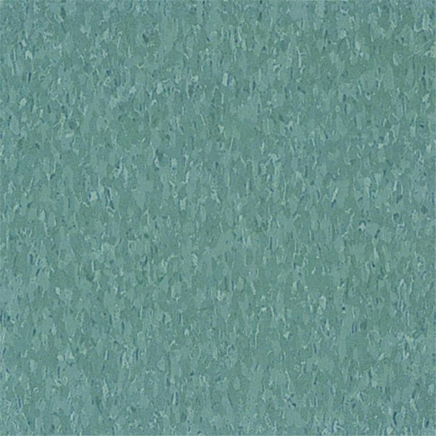 Armstrong Flooring Imperial Texture 45-Piece 12-in x 12-in Silver Green Glue-Down Chip Commercial VCT Tile