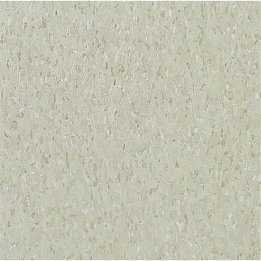 Armstrong Imperial Texture 45-Piece 12-in x 12-in Pearl White Glue-Down Speckle Commercial VCT Tile