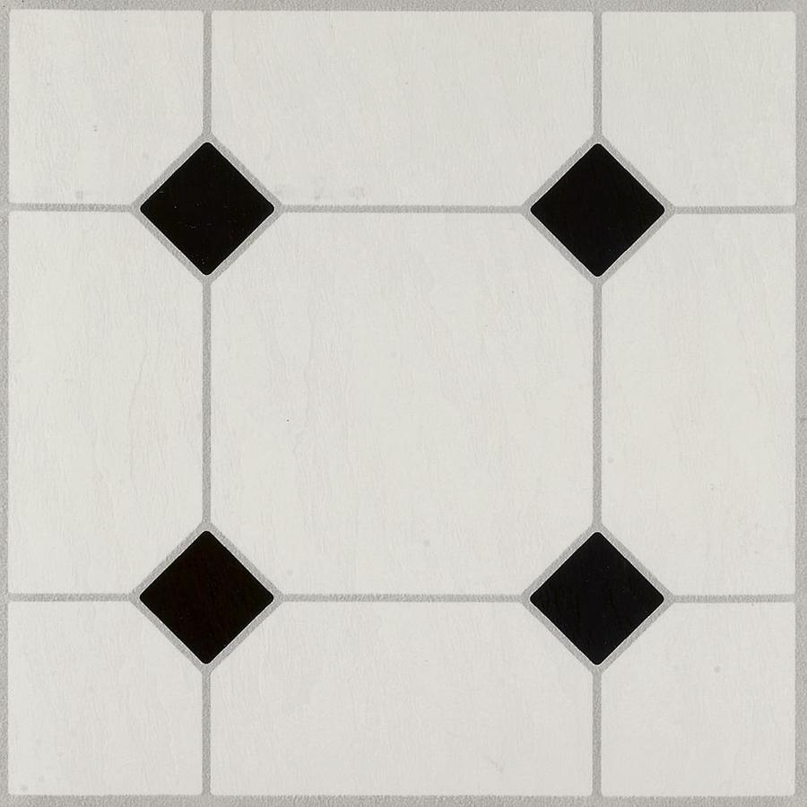 shop armstrong flooring 45 piece 12 in x 12 in black white peel and stick diamond vinyl tile at. Black Bedroom Furniture Sets. Home Design Ideas