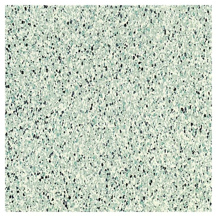 Armstrong Flooring Safety Zone 45-Piece 12-in x 12-in Patina Green Glue (Adhesive) Speckle Commercial VCT Tile