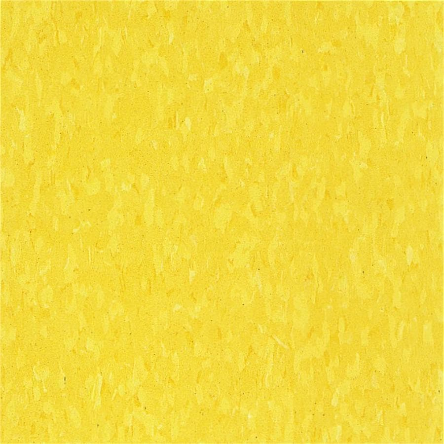 Armstrong Flooring Imperial Texture 45-Piece 12-in x 12-in Lemon Yellow Glue-Down Speckle Commercial VCT Tile