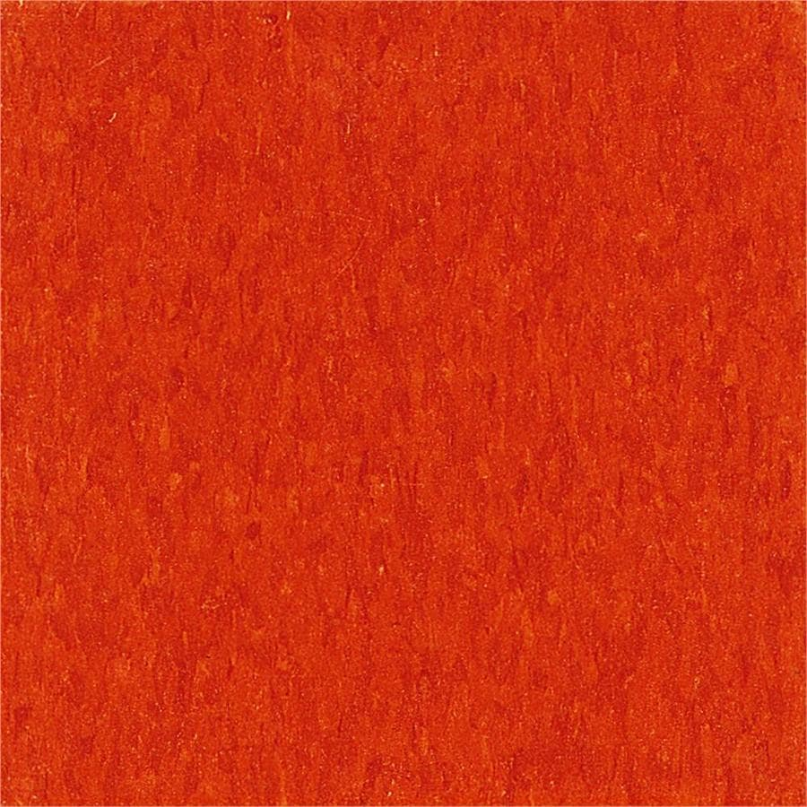 Armstrong Imperial Texture 45-Piece 12-in x 12-in Pumpkin Orange Glue-Down Speckle Commercial VCT Tile