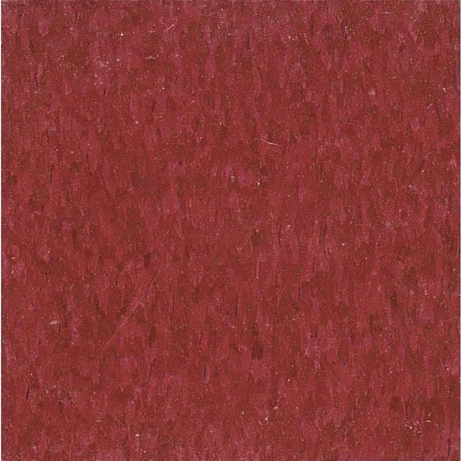 Armstrong Flooring Imperial Texture 45-Piece 12-in x 12-in Pomegranate Red Glue (Adhesive) Chip Commercial VCT Tile