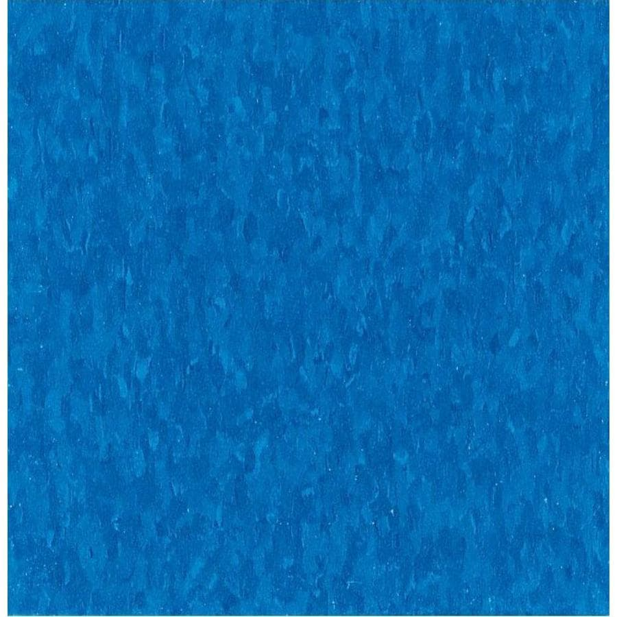 Armstrong Flooring Imperial Texture 45-Piece 12-in x 12-in Carribean Blue Glue (Adhesive) Chip Commercial VCT Tile