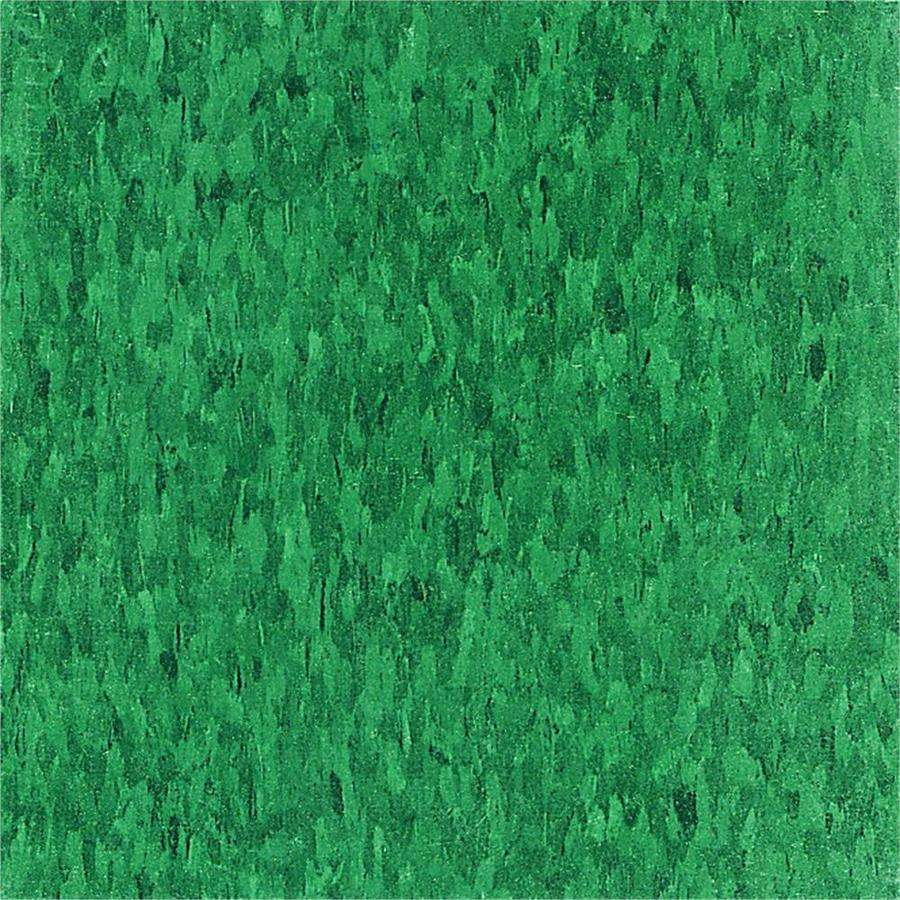 Armstrong Imperial Texture 45-Piece 12-in x 12-in Sea Green Glue-Down Speckle Commercial VCT Tile