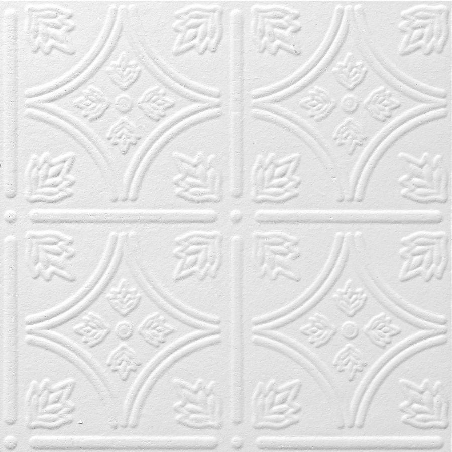 Armstrong 40-Pack 12-in x 12-in Tin Look Tintile Homestyle Ceiling Tile Panels