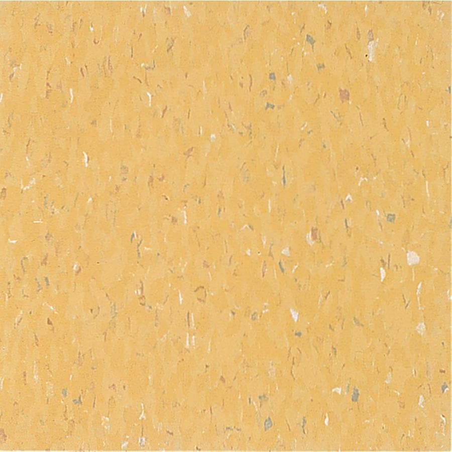 Armstrong Flooring MultiColor 45-Piece 12-in x 12-in Soleil Yellow Glue (Adhesive) Chip Commercial VCT Tile
