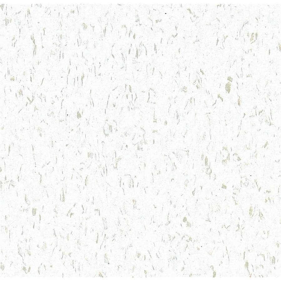 Armstrong Flooring Imperial Texture 1 Piece 12 In X Cool White Glue Adhesive Speckle Commercial Vct Tile