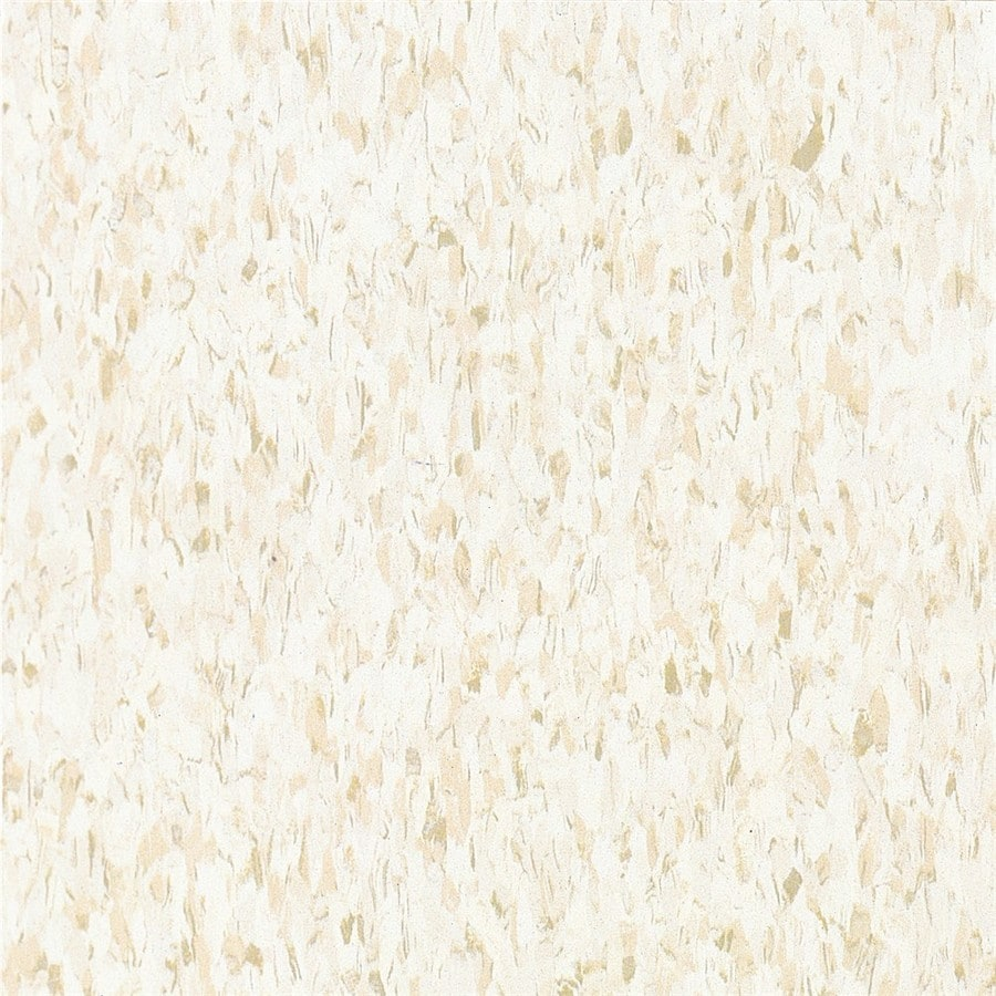 Armstrong Imperial Texture 1-Piece 12-in x 12-in Fortress White Glue (Adhesive) Speckle Commercial VCT Tile