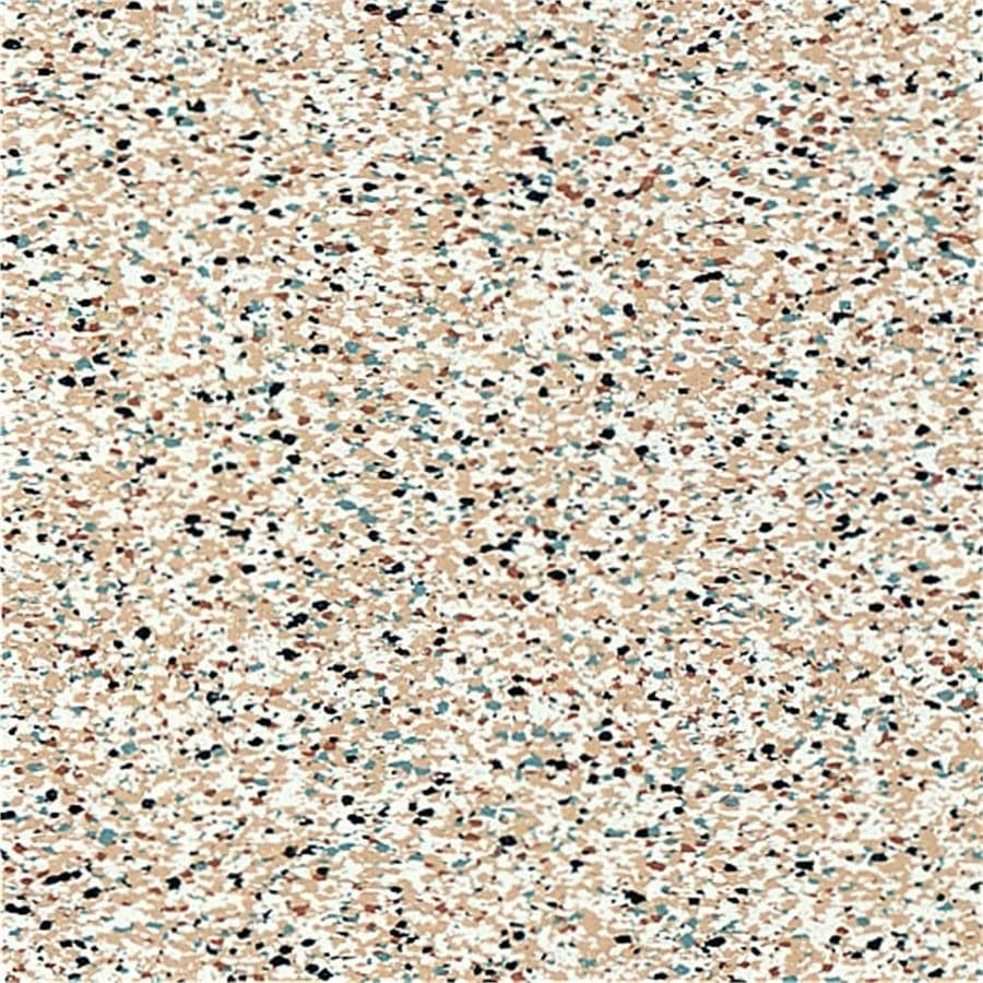 Armstrong Flooring Safety Zone 45-Piece 12-in x 12-in Cobblestone Peach Glue (Adhesive) Speckle Commercial VCT Tile