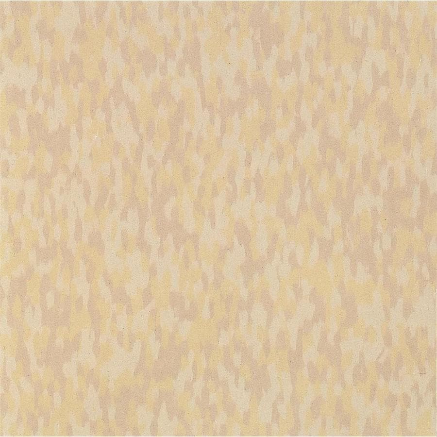 Armstrong Flooring SDT 45-Piece 12-in x 12-in Sandstone Beige Glue (Adhesive) Chip Commercial VCT Tile